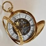 Giraffe Perregaux cabriolet 18 carat gold pocket watch