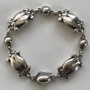 Georg Jensen, Moonlight Blossom Bracelet, No11 designed in 1905
